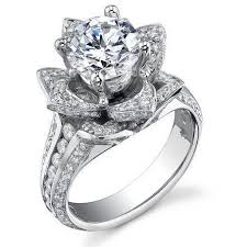 rose shaped engagement ring